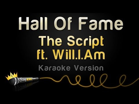 The Script ft. Will.I.Am - Hall Of Fame (Karaoke Version)