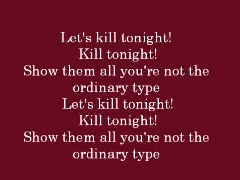Let's Kill Tonight lyrics- Panic! At The Disco
